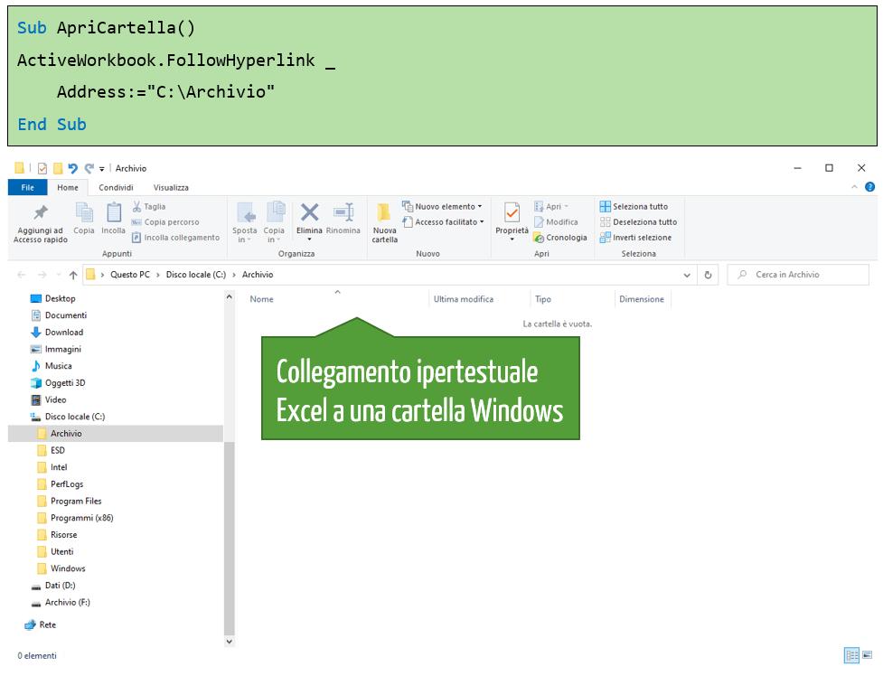 Come aggiungere un collegamento ipertestuale a una cartella nel computer