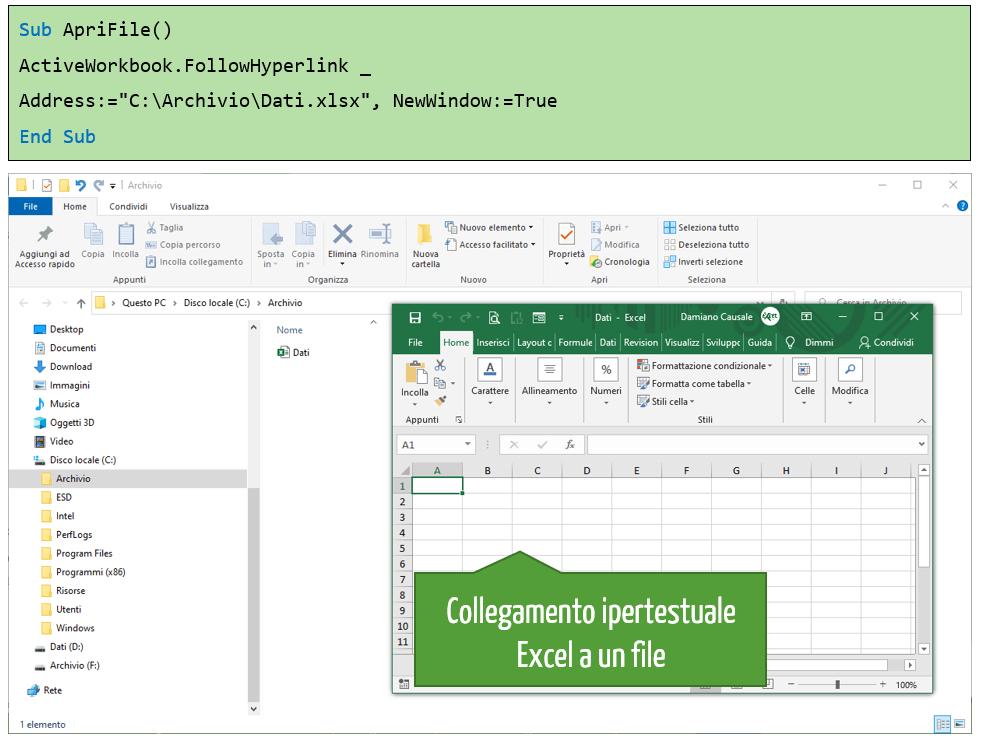 Come aggiungere un collegamento ipertestuale a un file nel computer