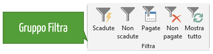 Excel scadenziario | Il gruppo filtra scadenze Excel