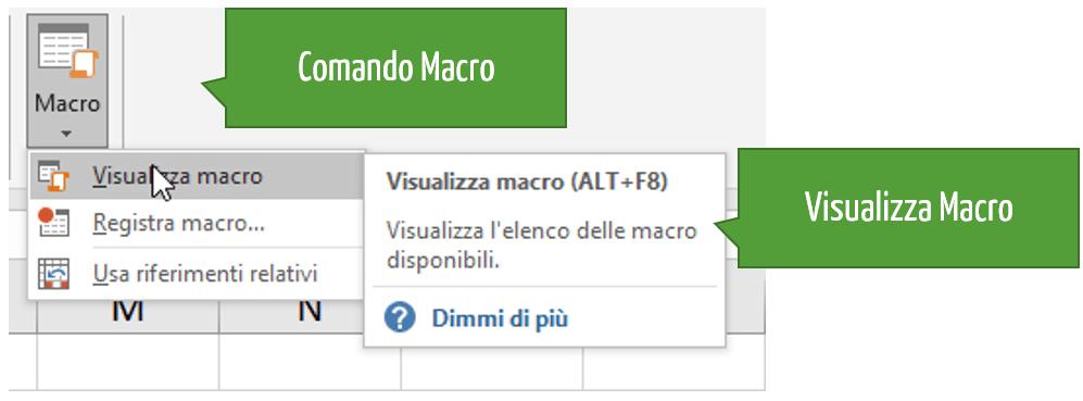 Comando Macro | Visualizza Macro