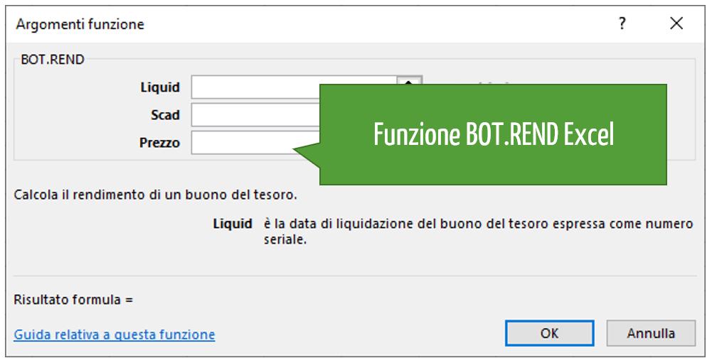 Funzione BOT.REND Excel