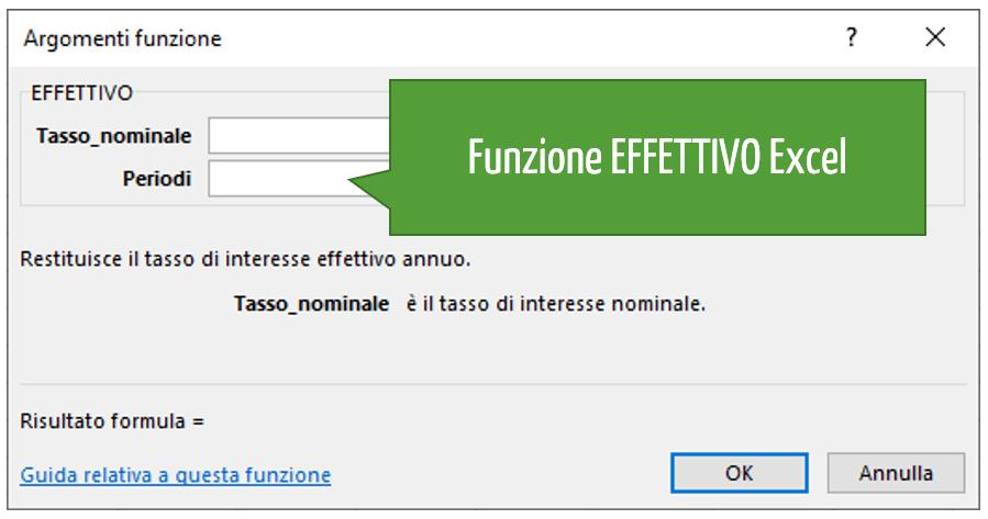 Funzione EFFETTIVO Excel