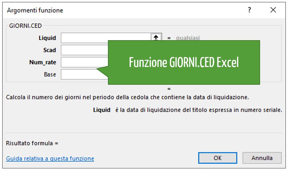 Funzione GIORNI.CED Excel