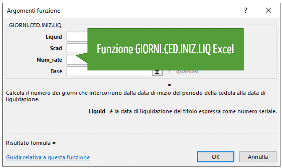 Funzione GIORNI.CED.INIZ.LIQ Excel
