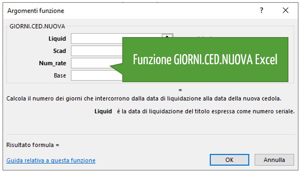 Funzione GIORNI.CED.NUOVA Excel
