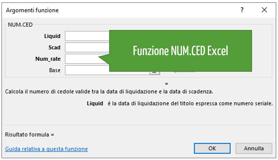 Funzione NUM.CED Excel