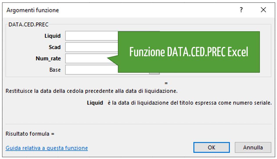 Funzione DATA.CED.PREC Excel