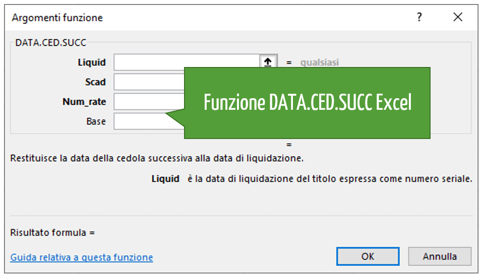 Funzione DATA.CED.SUCC Excel