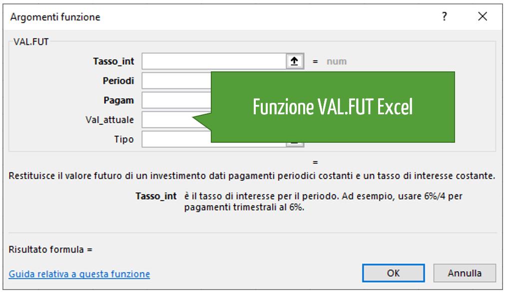 Funzione VAL.FUT Excel