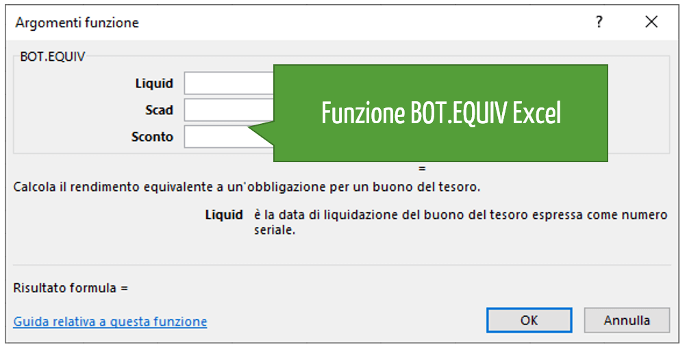 Funzione BOT.EQUIV Excel