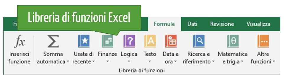 libreria di funzioni Excel