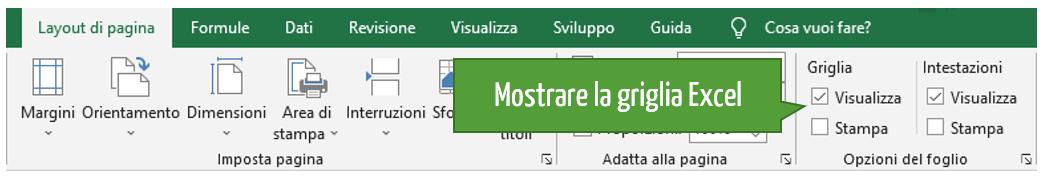 Come mettere griglia su Excel