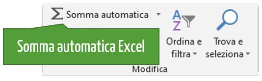 Cos'è la funzione Somma automatica Excel