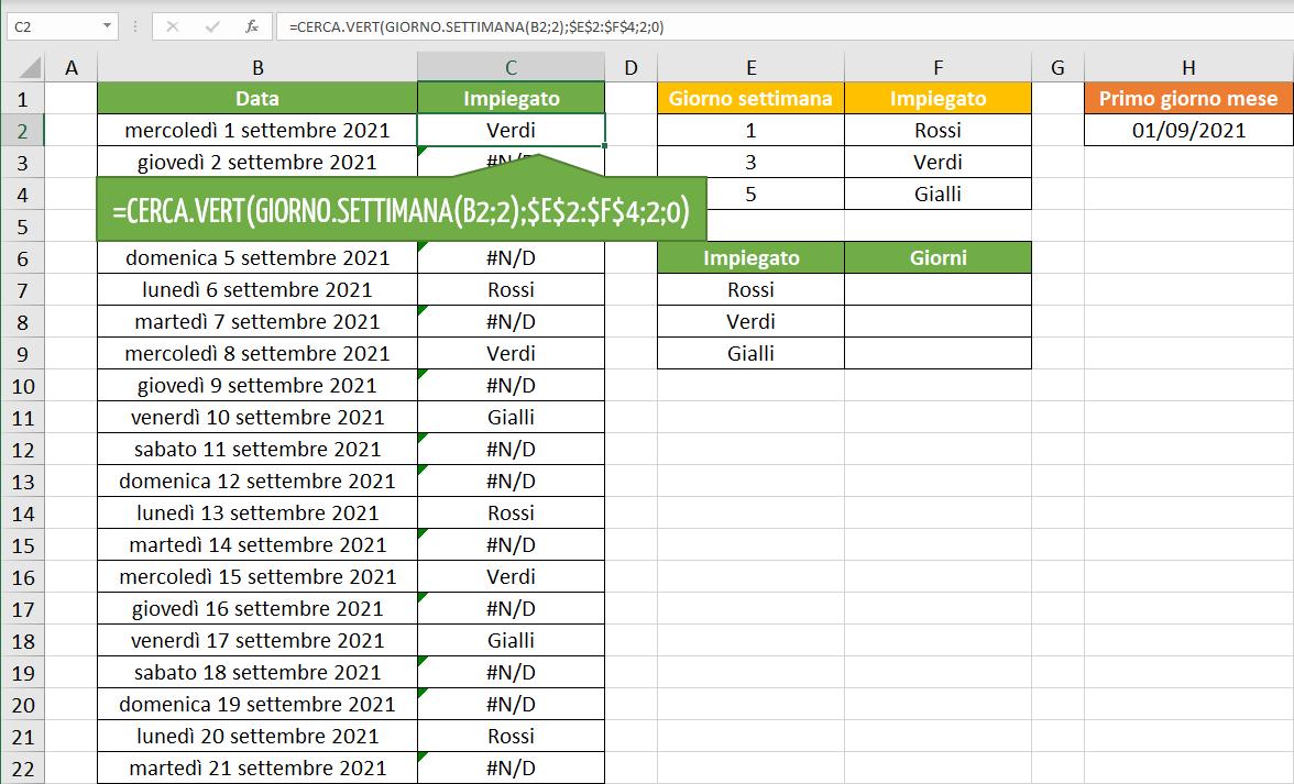 turni lavoro Excel